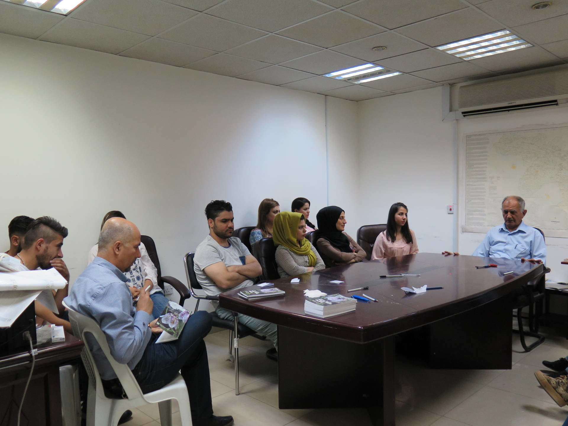 Dr. Ali Askari, BOD of the KBF gave a lecture to the students