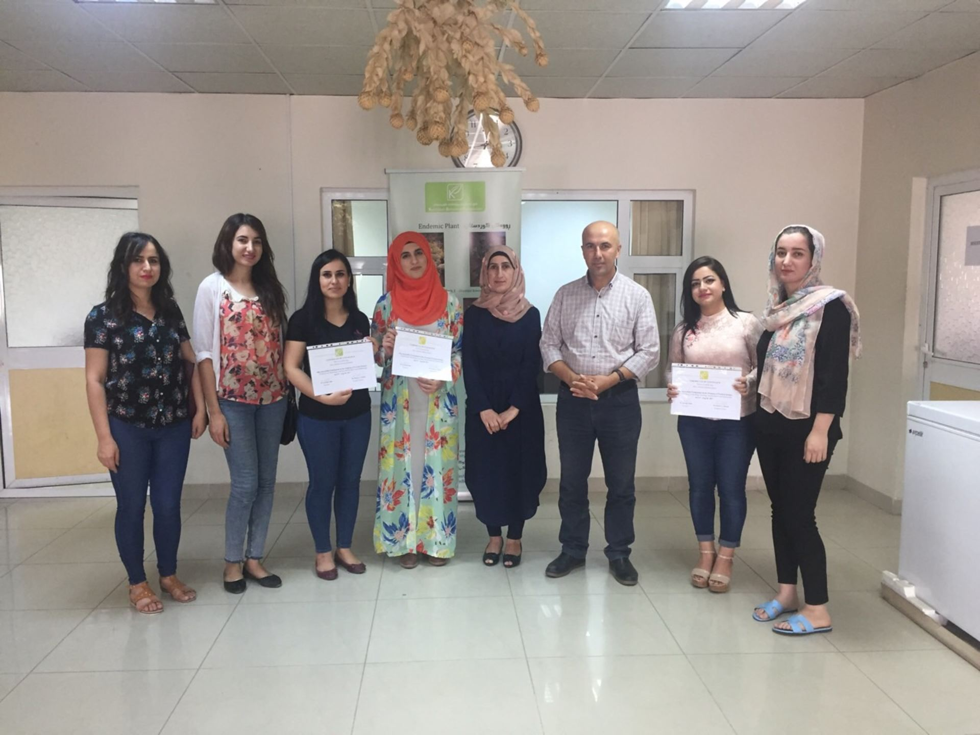Students from Halabja Polytechnic University.